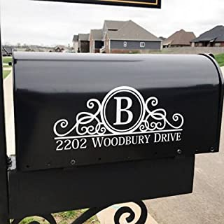 Maribeatty Mailbox Numbers Sticker Custom Made Your Name and Address Mailbox Sign Vinyl Lettering Decal Border Frame Decal Mailbox Decor …