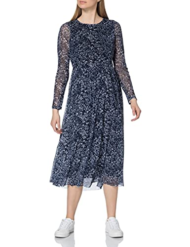 TOM TAILOR Damen Mesh 1023588 Kleid, 26684-Navy Floral Design, 42