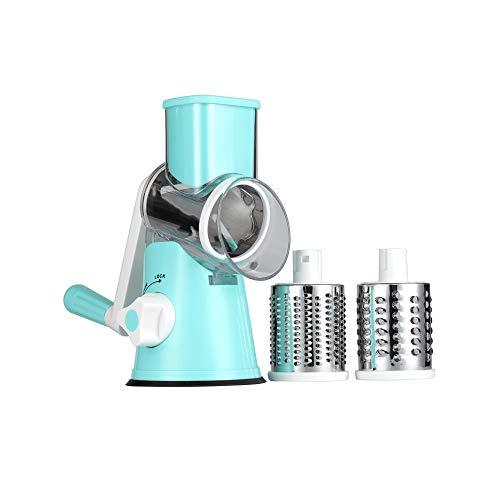ZXYWW Trituradora rotativa Mandoline Slicer, picadora de Queso rotativa Multifuncional, picadora de…