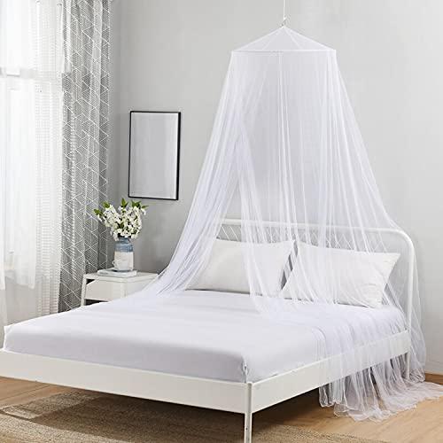 Dosel de cama de princesa con pompones Colgante de gasa Mosquitera para...