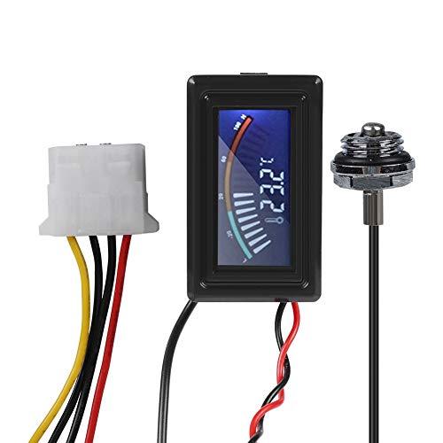 ASHATA PC Wasserkühlung Temperatur Detektor,LCD Pointer Display Digitalthermometer Thermometer,Zeigerthermometer Temperature Meter mit wasserdicht Sonde für Computer Wasserkühlung