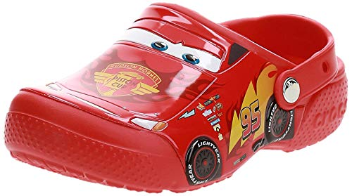 Crocs Fun Lab Disney And Pixar Cars Clog, Sabot, Rosso (Flame), 25/26 EU