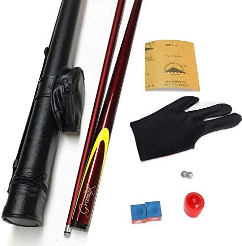 """WEHOLY Pool Cue, 57"""" Carbon 1/2 Joint Handmade Snooker Billard Rod Set 9.5mm Tip Pool Cue"""