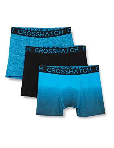 CrossHatch Herren Boxershorts, Czapla-Schwarz Blau, XL