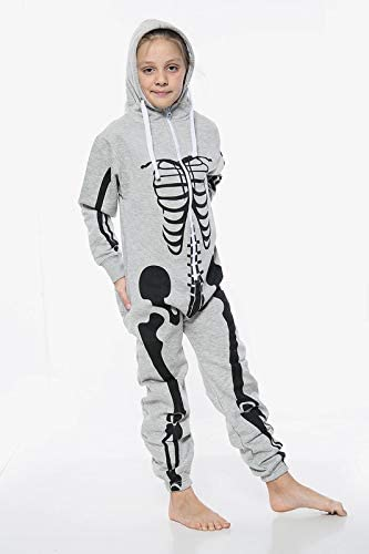 shelikes Kids Unisex Skelton Halloween Onesie