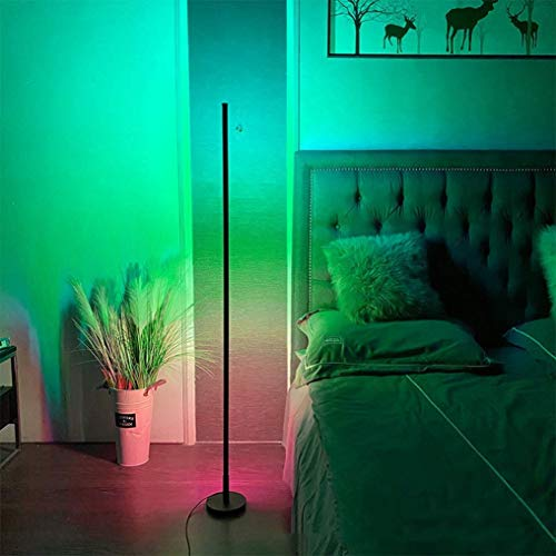 GAXQFEI Dormitorio Lámpara de Piso, Piso Led Regulable de Luz con Color Columna de Control Remoto Cambio de Luz Temperaturas de Color Rgb Y de Brillo sin Escalonamiento de la Sala de Estar Cafetería