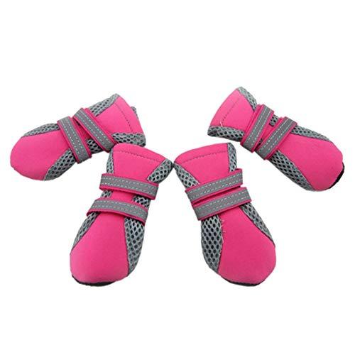 Hundesocken Schuhe Paw Paw Pflege Schutz, Atmungsaktive Schuhe Mesh-Boot Weichen Sohle Durable Booties Stiefel für Kleine, Mittlere Hunde