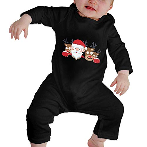 GLGFashion Unisex Xma Christmas Santa Newborn Baby 6-24 Months Baby Climbing Clothing Baby Long Sleeve Garment Combinaisons Body bébé Barboteuse