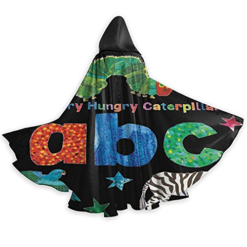 The Very Hungry Caterpillar Adult Christmas Halloween Witch Party Hooded Adult Vampires Wedding Cape Cloak