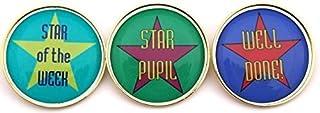 Star Award badge à épingle avec Livraison gratuite Lot de 3