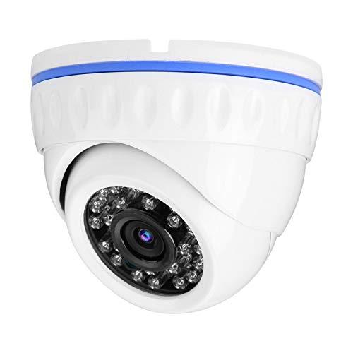 Tomanbery Cámara de Seguridad de grabación Continua Domo Vigilancia a Prueba de Lluvia Resistente a la corrosión para Sistema de vigilancia antirrobo(4MP)