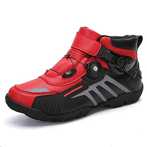 RTY Zapatos de Bicicleta sin Clicked, Suela de Goma, 37-48, Consulte la Longitud del pie en Lugar del tamaño,Rojo,39