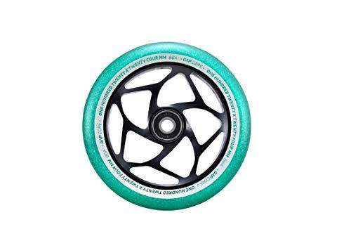 Blunt Stunt - Rueda para patinete (120 mm - 24 mm de ancho), color jade y negro