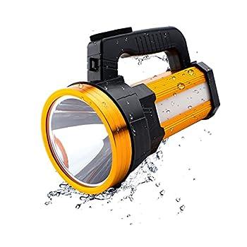Roadwiz Torche Lampe de Poche LED, USB Rechargeable Torche LED-Lampe de Vélo,Lampe de Torche Poche LED Ultra Puissante Zoomable, 6000 Lumens, 6 Modes d'éclairage