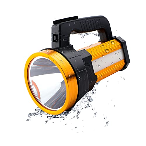 Roadwiz LED Searchlight LED Torch Rechargeable Super Bright with Sidelight...
