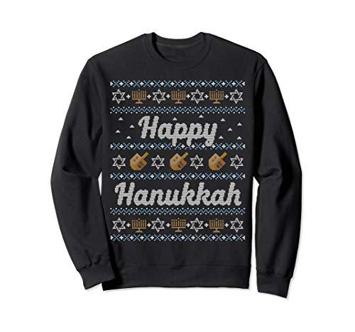 Funny Ugly Hanukkah Sweater Cute Happy Jewish Sweatshirt