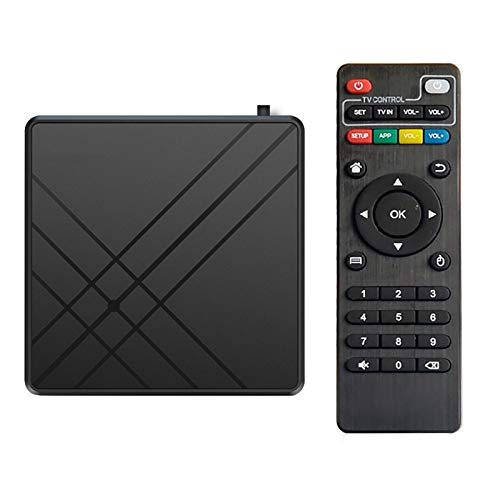 happygirr para Android 9.0 TV Box Decodificador de Red Inteligente 4GB RAM 32GB ROM Decodificador de TV Inteligente Admite Ratones/teclados inalámbricos 2.4G DLNA SKYPE MSN, Facebook, Twitter, QQ