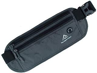ウエストポーチ セキュリティポーチ スキミング 対策 RFID メンズ レディース 兼用 薄型 軽量 防犯 アウトドア 旅行 ジョギング 登山 遠足 サイクリング