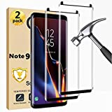 Galaxy Note 9 Screen Protector Easy installation 3D Glass Full Coverage 9H Hardness Tempered Glass Screen Protector for Samsung Galaxy Note 9【2 Pack】