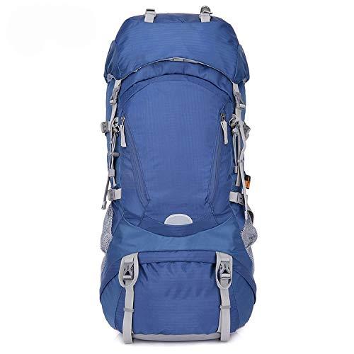 OASIS LAND 60l Outdoor Hiking Backpacks Rucksack Sport Backpack Travel Climbing Bags Waterproof Trekking Camping Backpack-Blue-OneSize