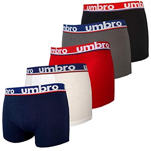 Umbro Boxershorts für Herren, Baumwolle, 5 Stück