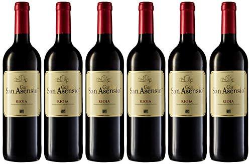 San Asensio Vino Rijoa Tinto de 12º - Paquete de 6 botellas de 75 - Total 450 cl