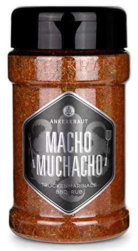 Ankerkraut Macho Muchacho, BBQ Rub für texanische und mexikanische Küche, 200g im Streuer