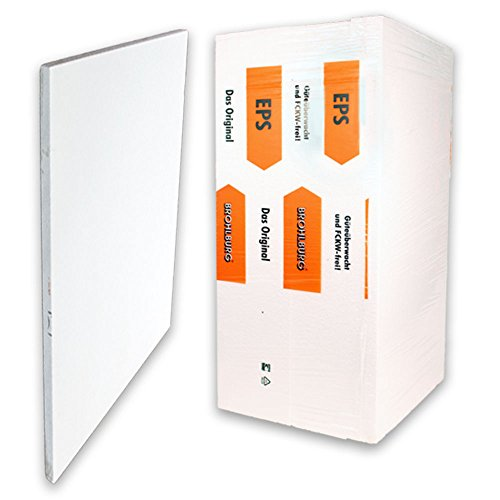 12m² (24 Stück a 0,5m²) Standard Dämmplatten Mehrzweckdämmplatten 1000x500x20 mm EPS 035 DEO/WAB dm 100 kPa