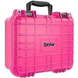 Eylar Tactical Hard Gun Case Water & Shock Proof with Foam 13.37 inch 11.62 inch 6 inch Pink