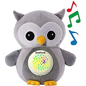 ZooPond – Baby Sound Machine, White Noise Machine Baby, Baby Soother, Crib Soother. Baby Sound Machine for Sleeping, Crib Toys with Music and Lights, Baby Sleep Aid, New Baby Gift. Susher (Grey Owl)
