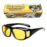 HD Night Vision Wrap Arounds Sunglasses