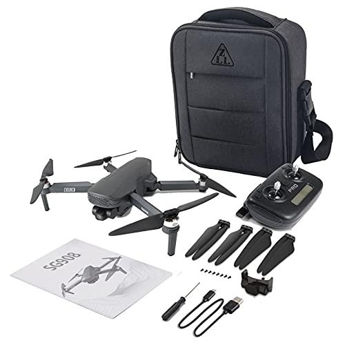 asdzxc Drone GPS Sg908 HD con Fotocamera 4k Tre - ASSE Tecanica Tecerabilizzazione Automatizzatizzata, Quadcopter Tifico 5g con GPS/Flow Optical, modalità Heale, 28 Minuti Volo Tim
