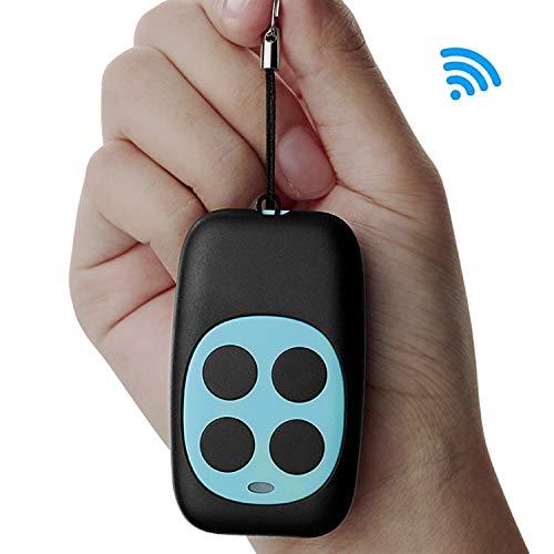 EasyULT Universal Ersatz Handsender Fernbedienung Frequenz 270-868MHZ [1 Stück], Praktische 4-Kanal-Fernbedienung für Garagentore, Selbstlernende Codierung, Hochwertig Verarbeitet(Blau)