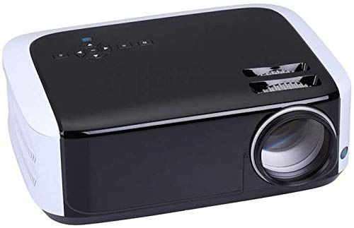 Projector helderheid HD 1080p LCD-projector 1280x768dpi 3500 Lumens LED Beamer Home Mini Theater HDMI USB AV VGA (Kleur: Zwart + wit, Maat: Een maat) dljyy (Color : Black+white, Size : One Size)