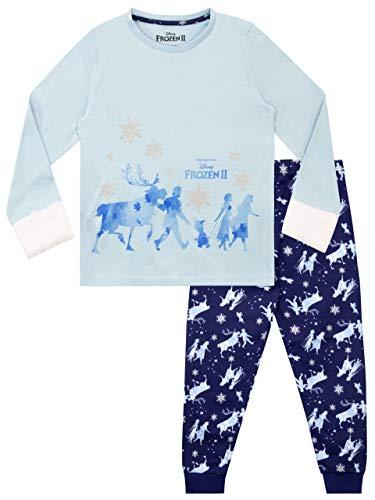 Disney Mädchen Die Eiskönigin Schlafanzug Frozen Blau 110