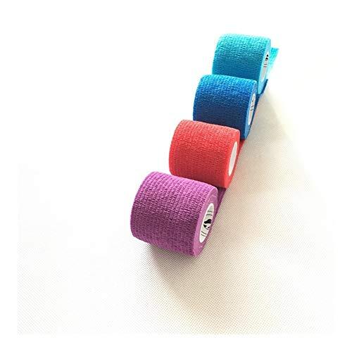 Fangfang Hundewelpen-Katze-Vet-Tape Self Adhesive Bandage Elastische 5CM, 12Roll