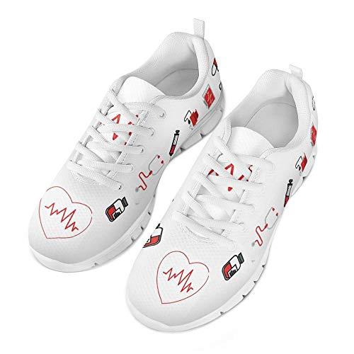 Coloranimal Gym Sport Damen Herren Air Mesh Laufschuhe Nette Krankenschwester Medizinische Muster Lässig DailyShoes Athletic Fashion Sneakers EU Größe 40