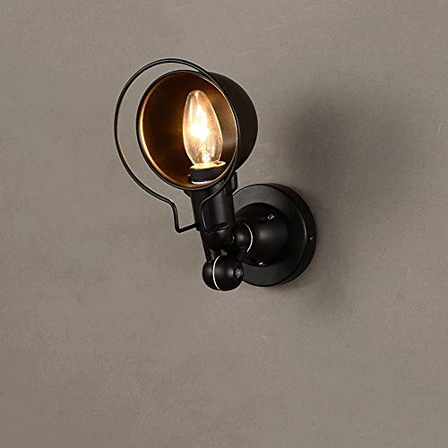 Lyuez lamp arm draaibare wandlamp buitenlamp smeedijzer retro glazen wandlamp nostalgische gang gangverlichting buitenverlichting straatlantaarn