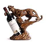 LY88 Table casier à vin Support de Stockage de vin Style guépard casier à vin personnalité Maison Cuisine Restaurant casier à vin résine comptoir Armoire Cave Cuisine Bar Table décoration