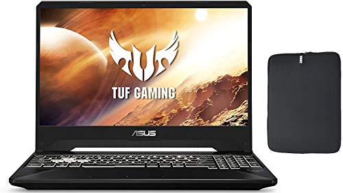 Newest ASUS TUF 15.6' FHD Premium Gaming Laptop, AMD Ryzen 5 3550H, 12GB RAM, 1TB SSD Boot + 1TB HDD, NVIDIA GeForce GTX 1650 4GB, RGB Backlit Keyboard, Windows 10 + Woov Laptop Sleeve Bundle