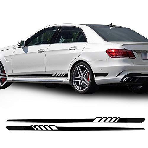 XMEIFEI PARTS Pegatina De Banda Lateral para Mercedes Benz W212 E Class E63 AMG Decal Stickers-Black/Silvergrey/White / 5D Carbon by (Color Name : Gloss Black)