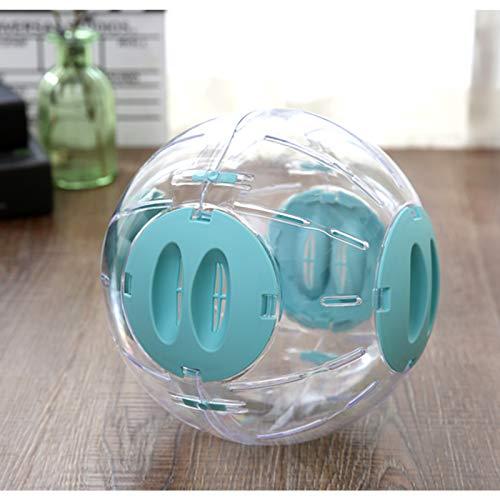 Andiker Hamsterball, Transparent Hamsterrad Laufkugel für Hamster & Mäuse Plastik Spielzeug Langeweile beseitigen und die Aktivität steigern Laufrad Hamsterrad (20 cm, Blau)