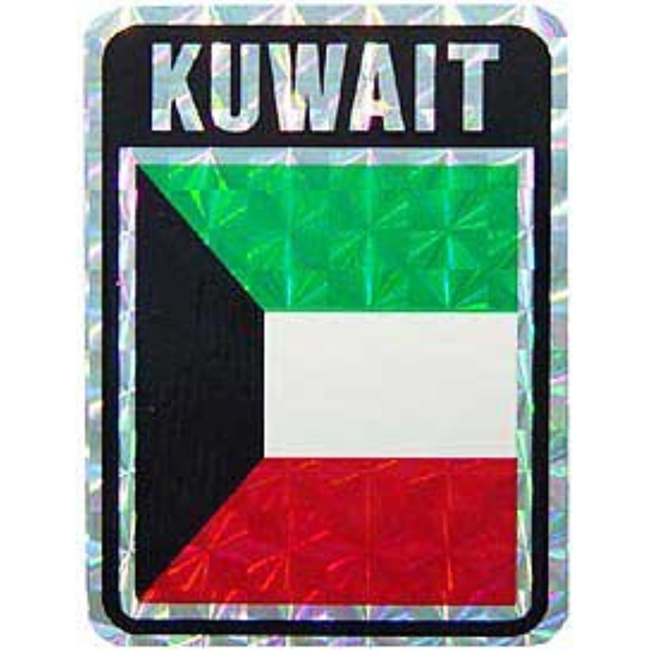 Novelty International World Country Flags Sticker Decal - Kuwait
