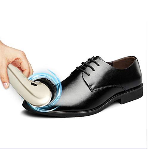 YOGANHJAT Kit de limpiabotas eléctrico, Cepillo pulidor Zapatos eléctrico USB Polvo limpiabotas...