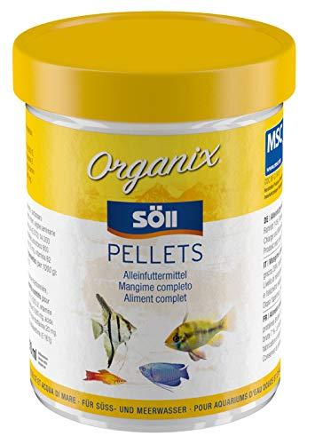Söll 18749 Organix Pellets - Hauptfutter für Zierfische - Aquariumfutter - Zierfischfutter - Pelletfutter, 1er Pack (1 x 270 ml)
