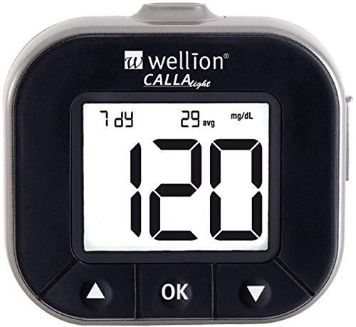 Wellion CALLA Light Blutzuckermessgerät Set silber mg/dL