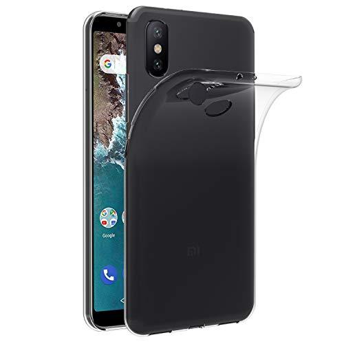 iVoler Cover Compatibile con Xiaomi Mi A2, Silicone Case Molle di TPU Trasparente Sottile Custodia