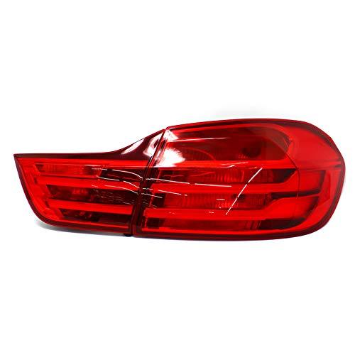 Rückleuchten Folie Set Aufkleber Tönungsfolie Heckleuchten passgenau zugeschnitten Auto Rücklichter (Red (C043))