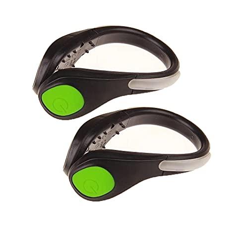 Clip De Chaussure à LED équipement De Course De Nuit, Clip De Sécurité De Chaussure Clignotant Chargement USB, Lumière De Clip De Sécurité Pour La Course, La Randonnée, Le Cyclisme (paire) (green)