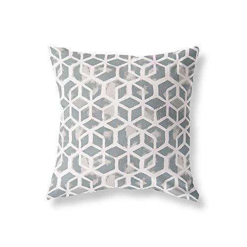 BYRON HOYLE Abstract Pillow Cover Outdoor Celtic Sea Salt Gray Pillow Covers Cube Pillow Cover for Your Modern Decor